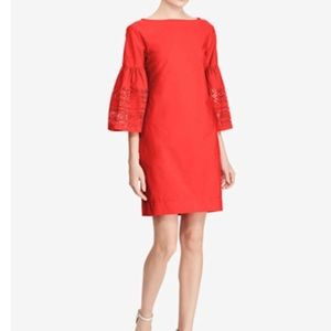 Ralph Lauren Laser Cut Bell Sleeve Dress
